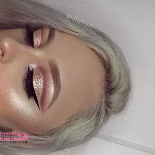 مدل آرایش چشم عروس مناسب رنگ موی دودی