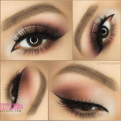 زیباترین آرایش چشم با خط چشم باریک و دخترانه