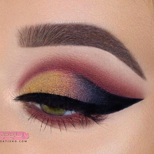 عکس از مدل آرایش چشم عروس