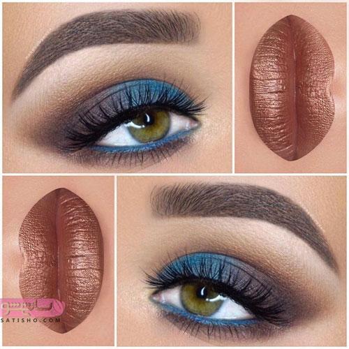 آرایش چشم مناسب با رنگ لب