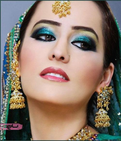 مدل آرایش هندی چشم عروس 98