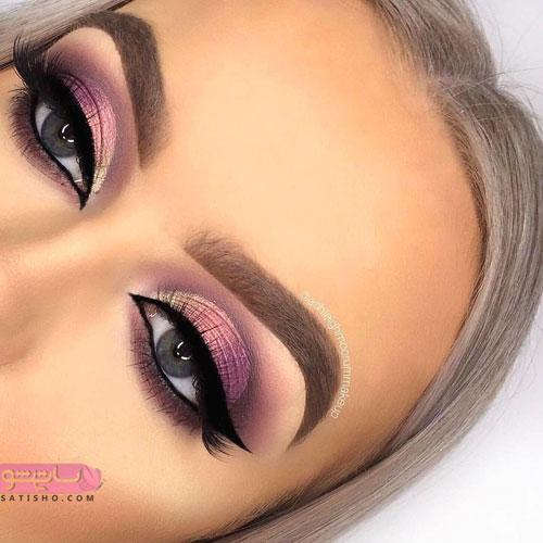 مدل آرایش خفن چشم و ابرو زنانه