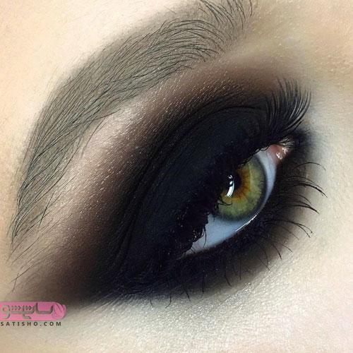 آموزش آرایش چشم مخصوص چشم عسلی