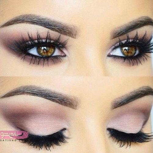 آموزش آرایش عروس چشم خرمایی
