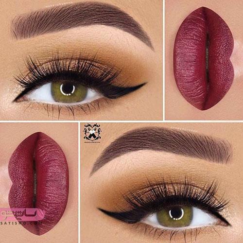 مدل آرایش چشم عروس مناسب صورت های تپل و توپر