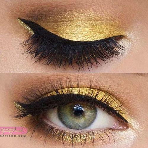 سایه چشم زرد برای چشم رنگی ها