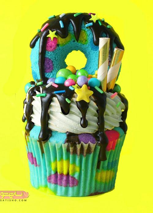 زیباسازی کیک فنجانی برای جشن تولد