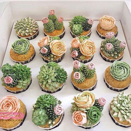 مدل تزیین کاپ کیک مجلسی
