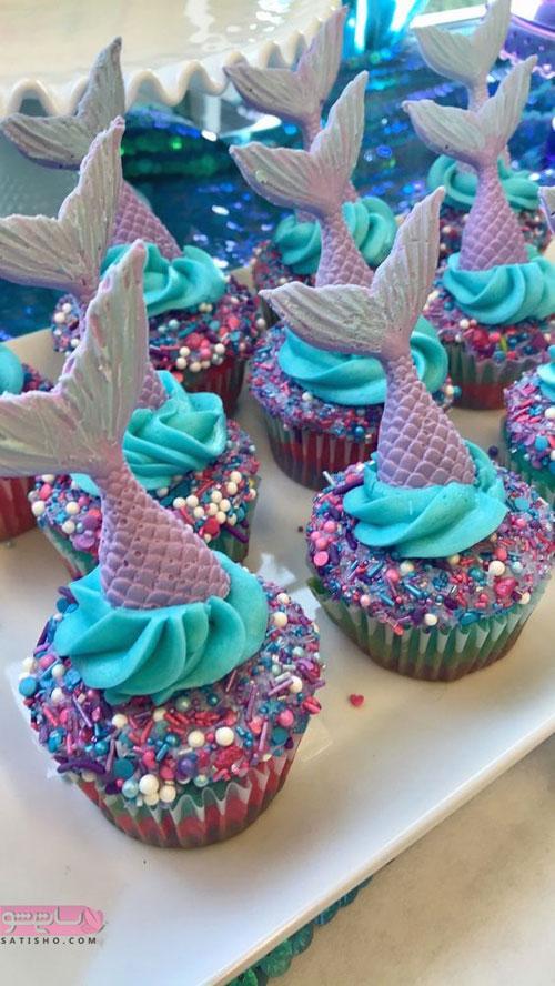 نمونه تزیین لاکچری کیک و کاپ کیک