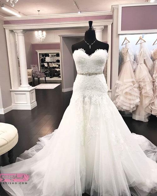 مدل لباس عروس پرنسسی جذاب