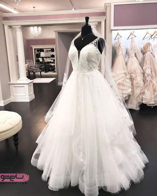 نمونه لباس عروس پرنسسی باکلاس