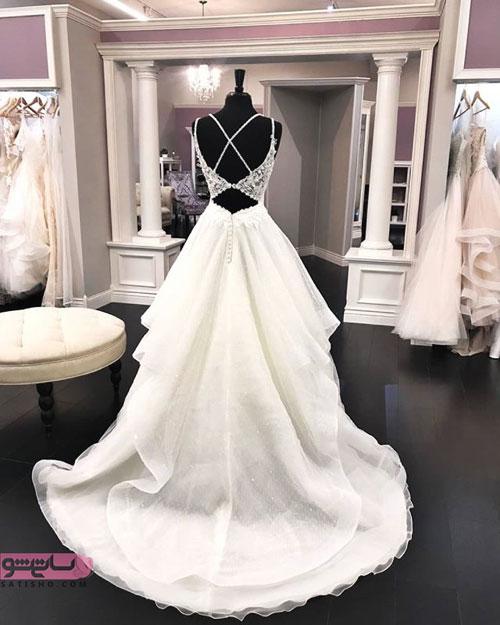 جدیدترین مدل لباس عروس دنباله دار 2019