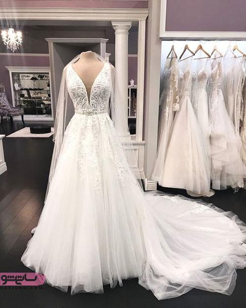 عکس مدل لباس عروس گیپور 98
