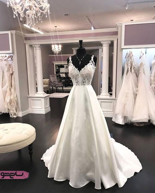 مدل جدید لباس عروس جنس ساتن