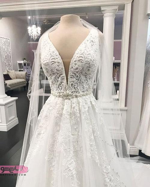لباس عروس پفی شیک