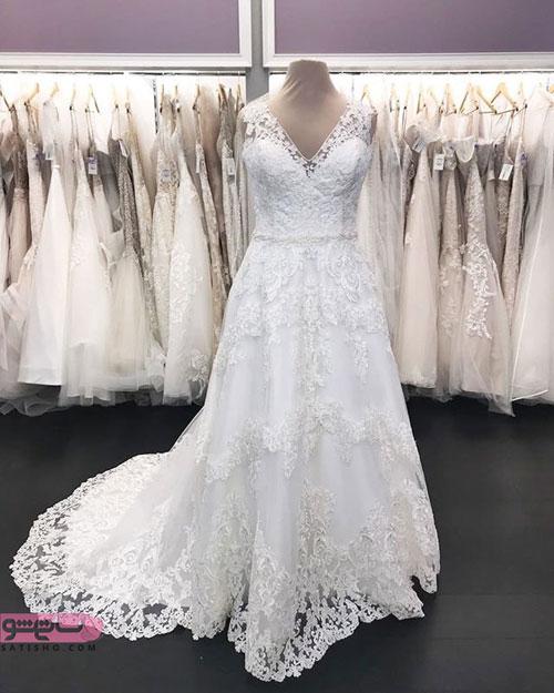 عکس لباس عروس بلند و پوشیده