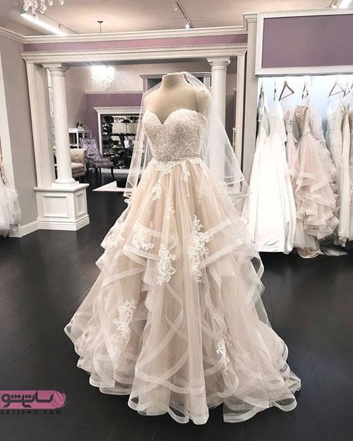 مدل لباس عروس پف دار ترک