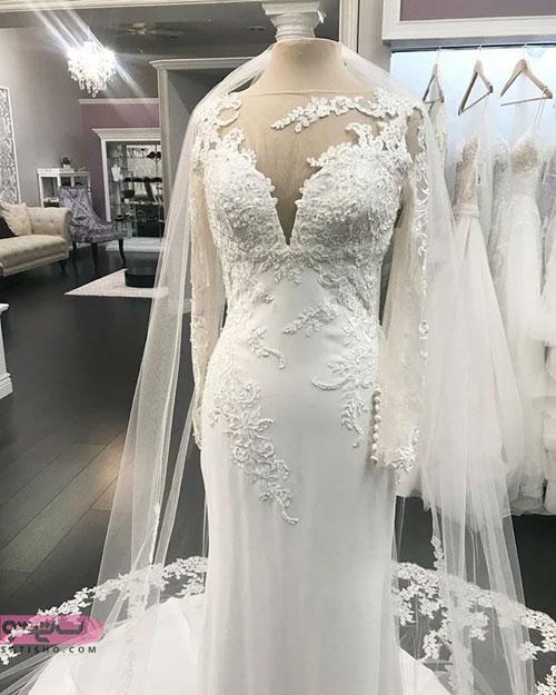 چند نمونه از شیک ترین مدل لباس عروس های مزون دوز