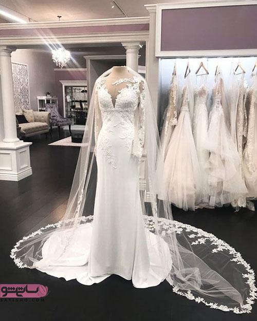 عکس لباس عروس دنباله دار اینستاگرام