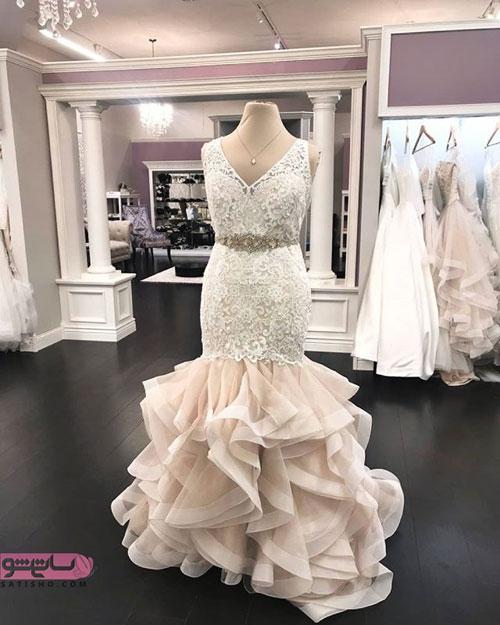 نمونه لباس عروس با دامن خوشگل و فانتزی
