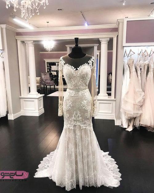لباس عروس مزونی با خرجکار های ظریف