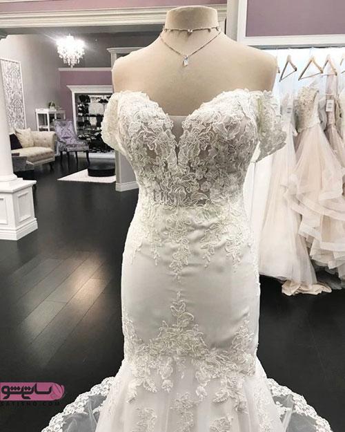 عکس های لباس عروس با شنل و تور
