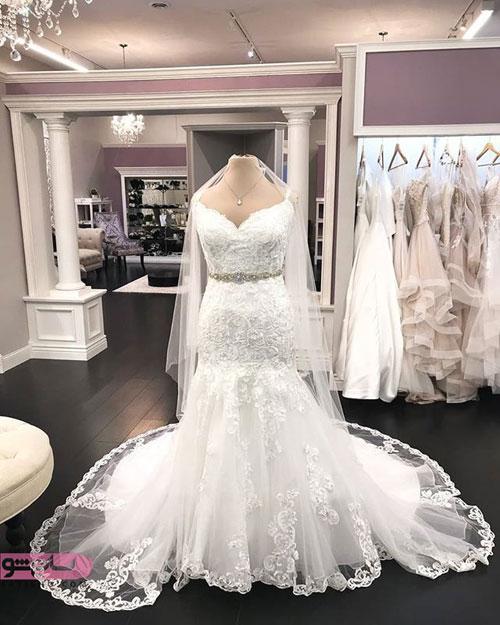عکس لباس عروس پرنسسی سایز بزرگ