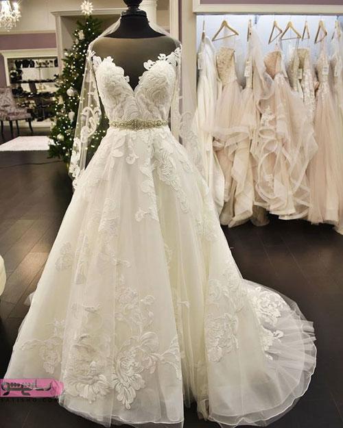 مدل لباس عروس پرنسسی و دامن پفی