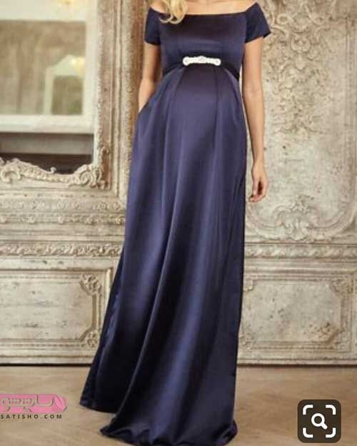 لباس بارداری مجلسی مشکی ساده