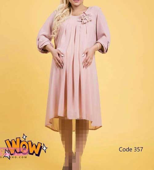 الگو دوخت لباس مجلسی بارداری