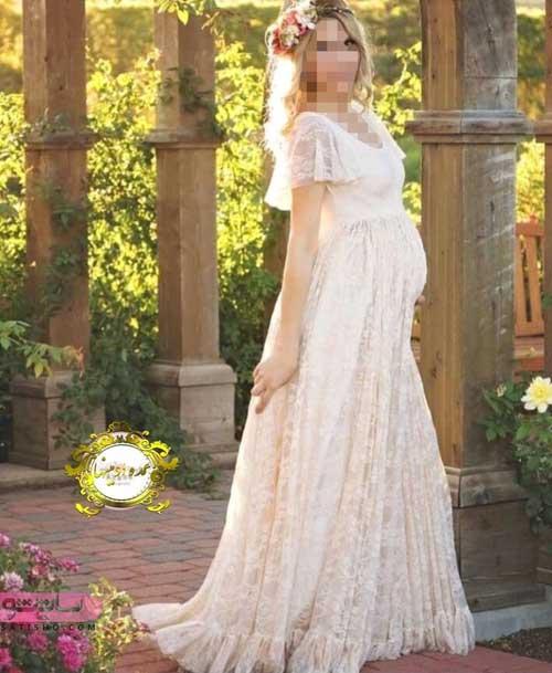 لباس حاملگی تمام گیپور برای مجلس