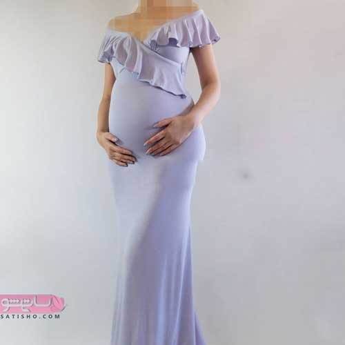 مدل لباس مجلسی بارداری راحت و سبک 2019