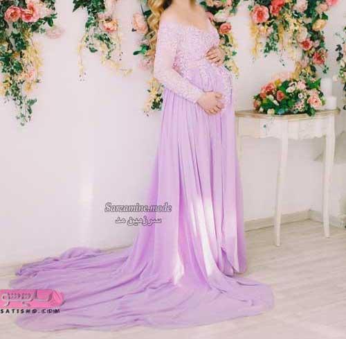 لباس مجلسی بارداری باکلاس