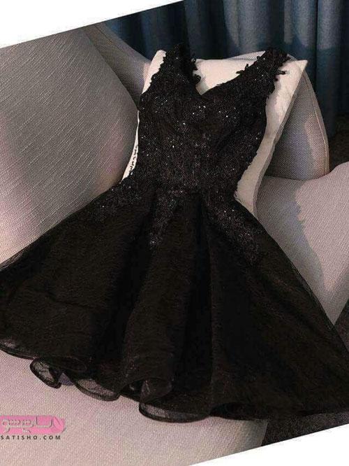 شیک ترین لباس مجلسی ۲۰۱۹ توری مشکی