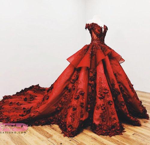 زیباترین مدل لباس مجلسی دنباله دار 98