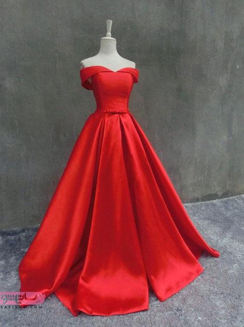 طرح لباس دخترانه قرمزبدون آستین