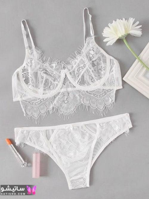 نمونه لباس زیر سفید و فانتزی زنانه