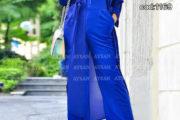 مدل مانتو آبی رنگ