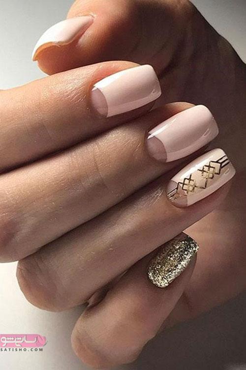 عکس طراحی ناخن عروس اکلیلی شیک