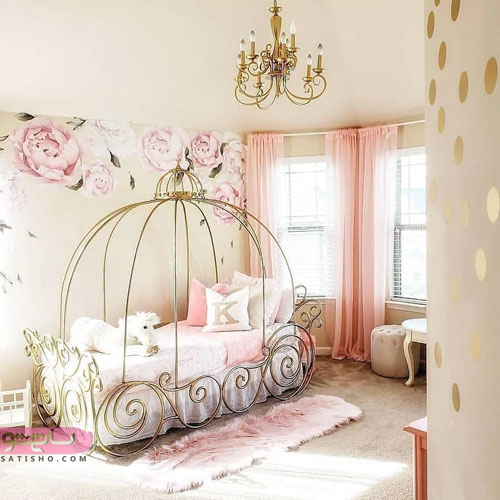 مدل جدید دکوراسیون اتاق خواب دخترانه کلاسیک