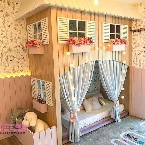 مدل دکوراسیون اتاق خواب دخترونه شیک