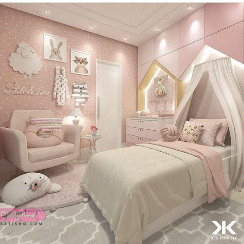 دکوراسیون اتاق خواب دخترونه جذاب