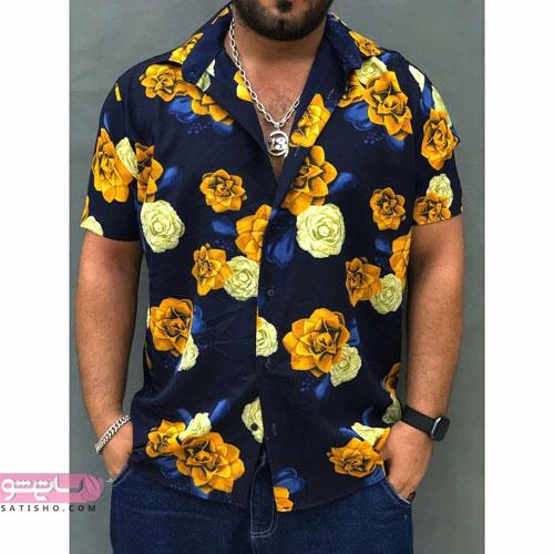 پیراهن های مردانه جدید طرح هاوایی