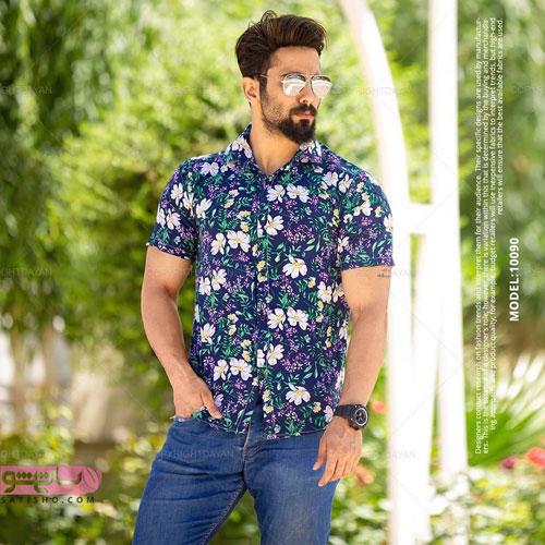جدیدترین پیراهن های مردانه اسپرت طرح هاوایی