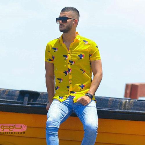 پیراهن زرد خوش رنگ مردانه