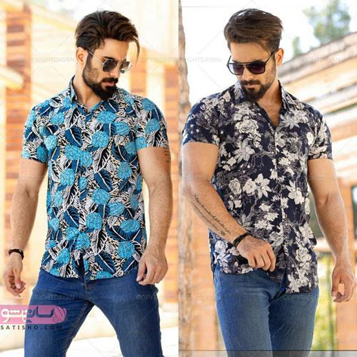 پیراهن گل گلی مردانه