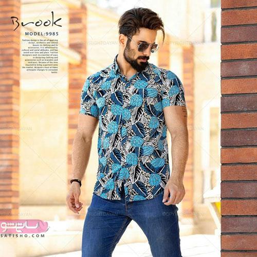 پیراهن زیبای مردانه با طرح گل