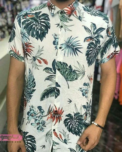 عکس پیراهن استین کوتاه مردانه