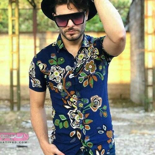 مدل پیراهن هاوایی مردانه گلدار با طرح زیبا
