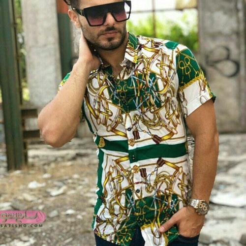 عکسهایی شیک از پیراهن مردانه مدل هاوایی برای تابستان